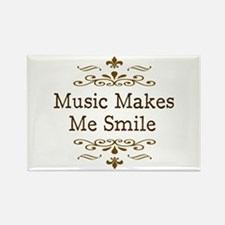 'Music Makes Me Smile' Rectangle Magnet
