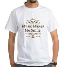 'Music Makes Me Smile' Shirt