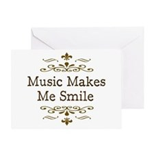 'Music Makes Me Smile' Greeting Card