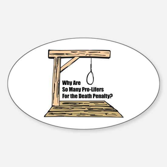 Death Penalty Oval Decal