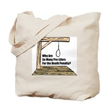 Death Penalty Tote Bag