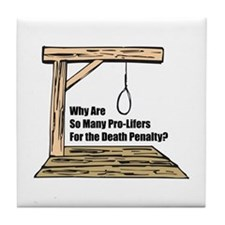 Death Penalty Tile Coaster