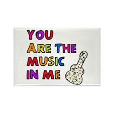 'The Music In Me' Rectangle Magnet