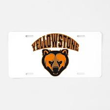 Yellowstone Bear Face Aluminum License Plate