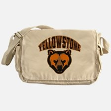 Yellowstone Bear Face Messenger Bag