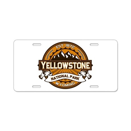 Yellowstone Golden Aluminum License Plate