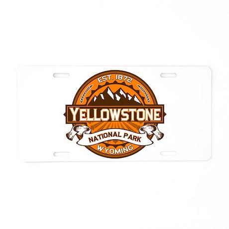Yellowstone Pumpkin Aluminum License Plate