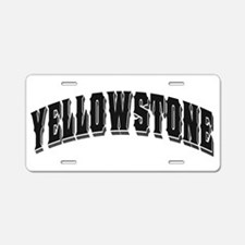 Yellowstone Old Style Black Aluminum License Plate