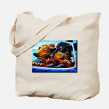 Two Dogs to Go Tote Bag