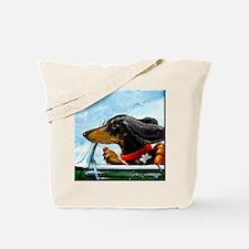 Dachshund Takes the Wheel Tote Bag
