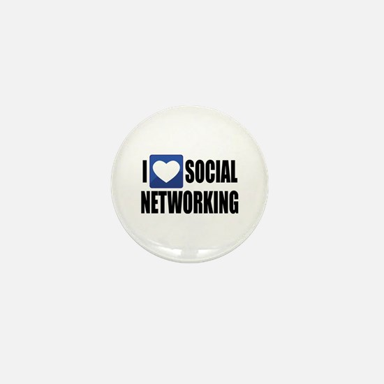 Social Networking Mini Button (10 pack)