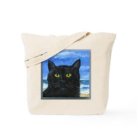 Black Cat at Capitola Tote Bag