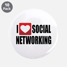 """Social Networking 3.5"""" Button (10 pack)"""