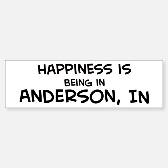 Happiness is Anderson Bumper Bumper Bumper Sticker
