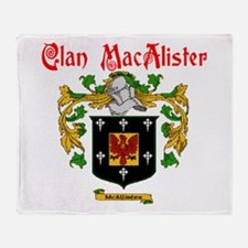 Clan MacAlister Throw Blanket