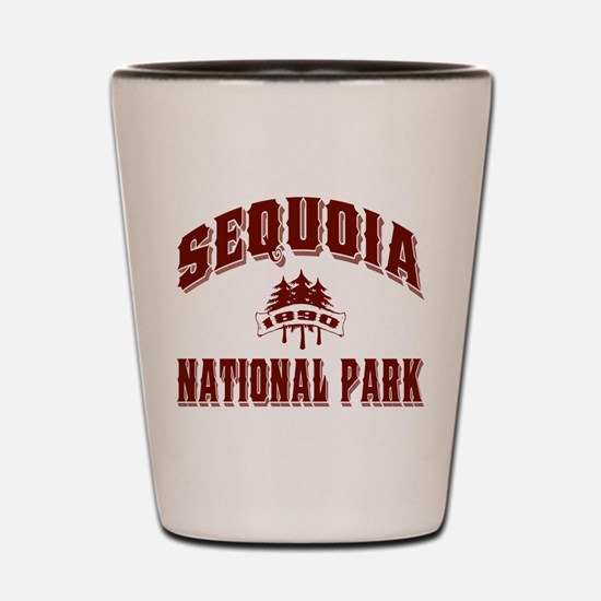 Sequoia Old Style Vermillion Shot Glass