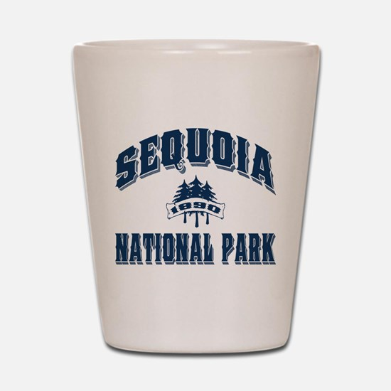Sequoia Old Style Blue Shot Glass