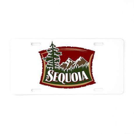 Sequoia Mountains Aluminum License Plate