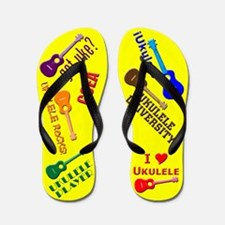 Funny Ukulele Flip Flops