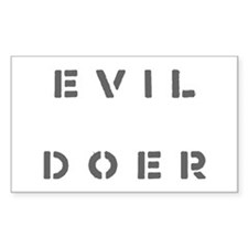 Evil Doer Rectangle Decal