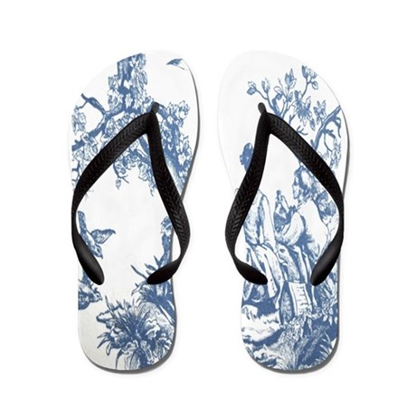 FRENCH TOILE Flip Flops