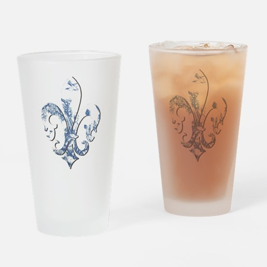 FRENCH TOILE Drinking Glass