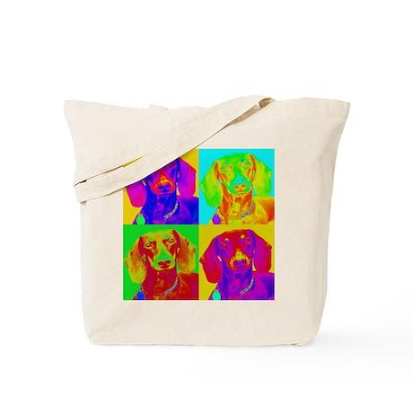 Op Art Doxie Tote Bag