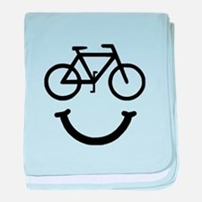 Bike Smile baby blanket