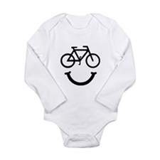 Bike Smile Long Sleeve Infant Bodysuit