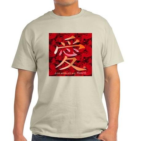 Kanji Love and Roses Light T-Shirt