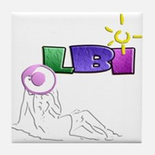 LBI Sunning... Tile Coaster