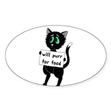 Will Purr For Food Decal