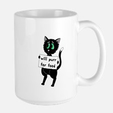 Will Purr For Food Mug