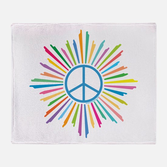 Peace Symbol Star Throw Blanket