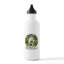 Merry Christmas Samoyed Water Bottle