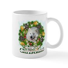Merry Christmas Samoyed Small Mug