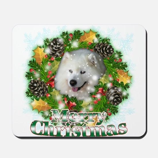 Merry Christmas Samoyed Mousepad