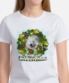 Merry Christmas Samoyed Women's T-Shirt