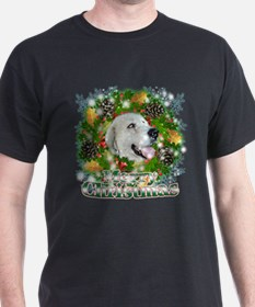 Merry Christmas Great Pyrenee T-Shirt