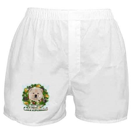 Merry Christmas Chow Chow Boxer Shorts