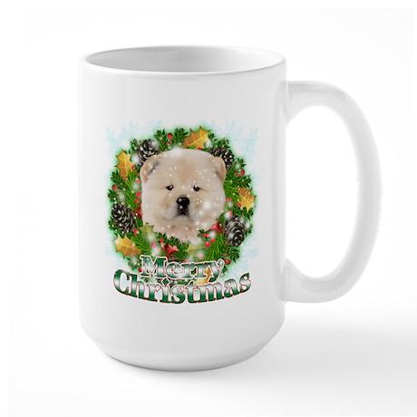 Merry Christmas Chow Chow Large Mug