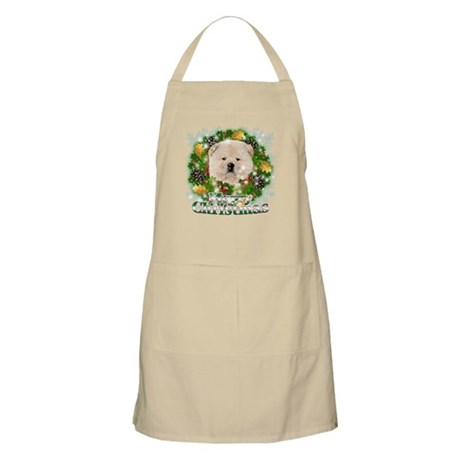 Merry Christmas Chow Chow Apron