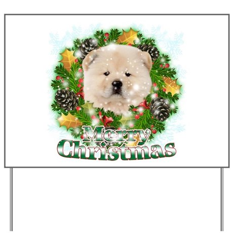 Merry Christmas Chow Chow Yard Sign