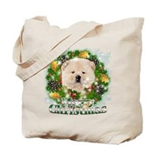 Merry Christmas Chow Chow Tote Bag