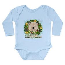 Merry Christmas Chow Chow Long Sleeve Infant Bodys