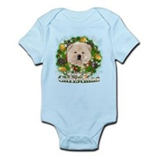 Merry Christmas Chow Chow Infant Bodysuit
