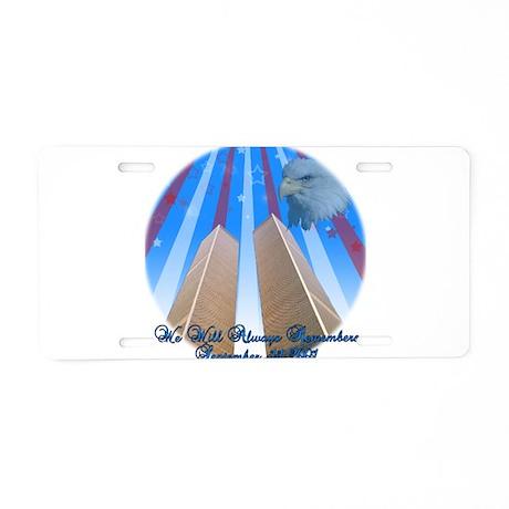 Memorial 9/11 Aluminum License Plate