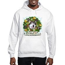 Merry Christmas Alaskan Malam Jumper Hoody