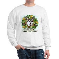 Merry Christmas Alaskan Malam Sweatshirt