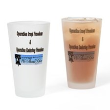 Funny Military thank you Drinking Glass